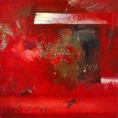 Cette robe rouge qui tourne sur elle-même dans un carré de ciel - Octobre 2003 - 120 x 120 cm