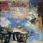 J'écrase du poivre en rêve pour trois assiettes de purée - Avril 2006 - 70 x 70 cm