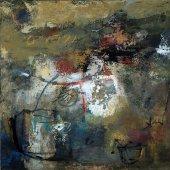 J'imagine le safran en fleur dans la montagne grecque - Juin 2006 - 70 x 70 cm