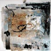 On bâtit de mémoire une maison pleine de signes et de murmures - Septembre 2006 - 120 x 120 cm