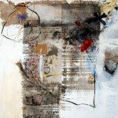 Chagrin délivré, les mains reprennent le fil des saisons - Juillet 2007 - 50 x 50 cm