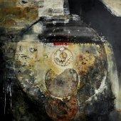 Dans mon âme, des tambours, des grelots, des noms de rochers, des nuées d'oiseaux - Décembre 2007 - 100 x 100 cm