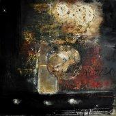 Dans la montagne proche, la lumière vacillante des chambres tisse ses constellations - Décembre 2007 - 100 x 100 cm