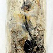 Sa trajectoire semblable à celle du feu est aube et abondance (II) - Décembre 2008 - 40 x 120 cm