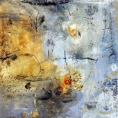 Naissant enfin parmi les vents énigmatiques (II) - Aout 2009 - 40 x 40 cm