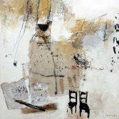 Notre souffle et le chant des cigales - Juillet 2013 - 50 x 50 cm