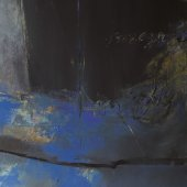 Grand tryptique bleu 2-130 x162cm-2001