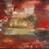 L'été fervent m'offre ses ocres et ses épices - Juillet 2010 - 120 x 60 cm